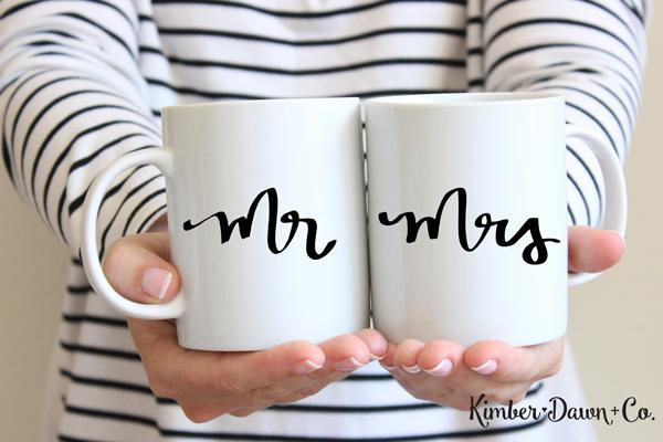 FREEBIE FRIDAY! Hand Lettered Mr & Mrs Free SVG Cut File | KImberDawnCo.com