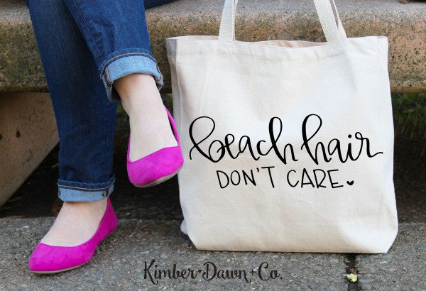 FREEBIE FRIDAY! Beach Hair Don't Care Hand Lettered Free SVG Cut File (plus, PNG + Studio3) |KimberDawnCo.com