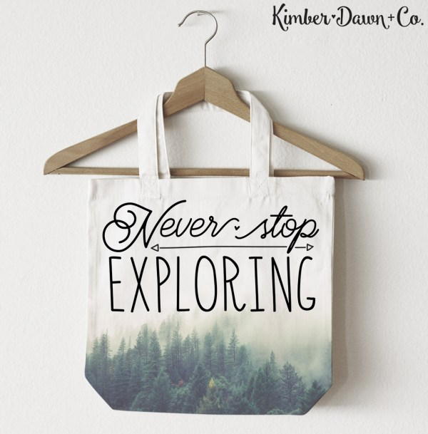 FREEBIE FRIDAY! Never Stop Exploring Free SVG Cut File (also available in PNG and STUDIO3 formats) | KimberDawnCo.com