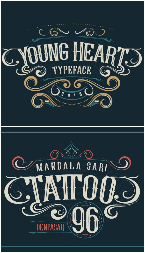 Young Heart Font - This font is so perfect! I think it would look great on graphic tees or on anything distressed or rustic looking