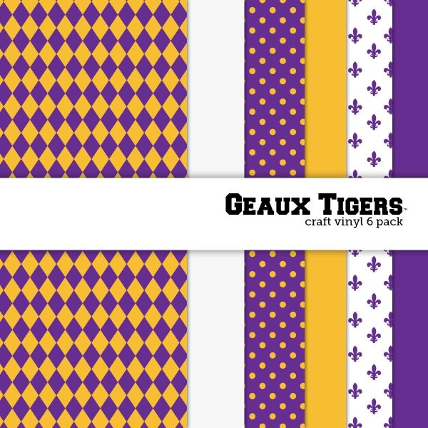 10 of the Coolest Kinds of Vinyl: College Themed -Geaux Tigers | www.kimberdawnco.com