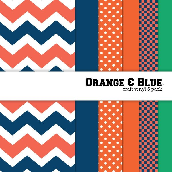 10 of the Coolest Kinds of Vinyl: College Themed -Orange and Blue | www.kimberdawnco.com