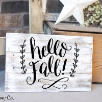 Hand Lettered Hello Fall Free SVG Cut File