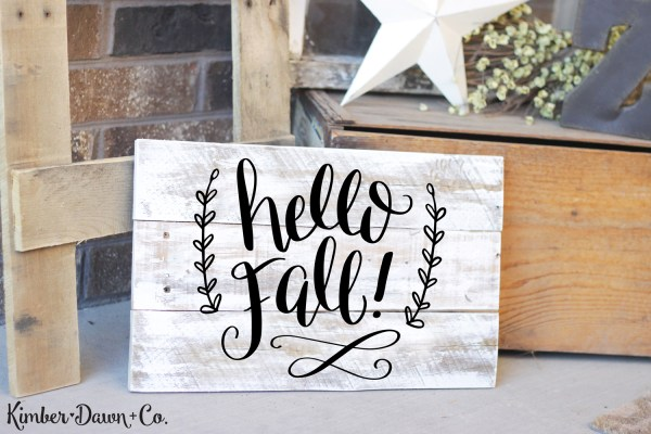 Freebie Friday! Hand Lettered Hello Fall Free SVG Cut File (PNG, Studio3) | DawnNicoleDesigns.com