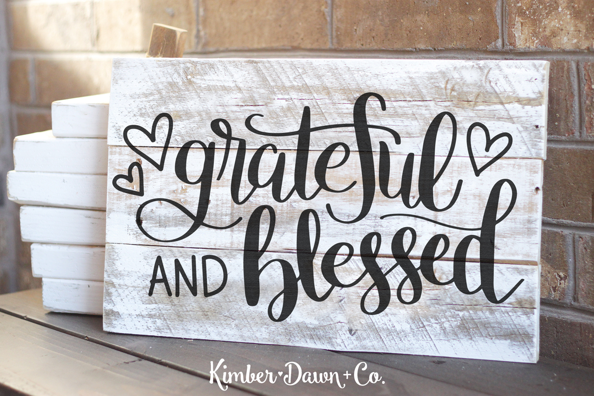 Hand Lettered Grateful And Blessed Free Svg Cut File