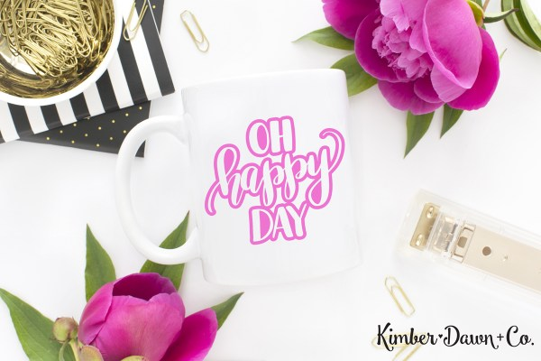 Hand Lettered Oh Happy Day FREE SVG Cut File