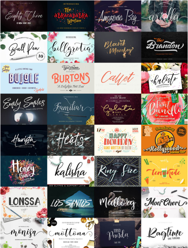 Love all of these fonts!  I can't believe I can get all of them (over 80 fonts) for 97% off!  It is a steal!