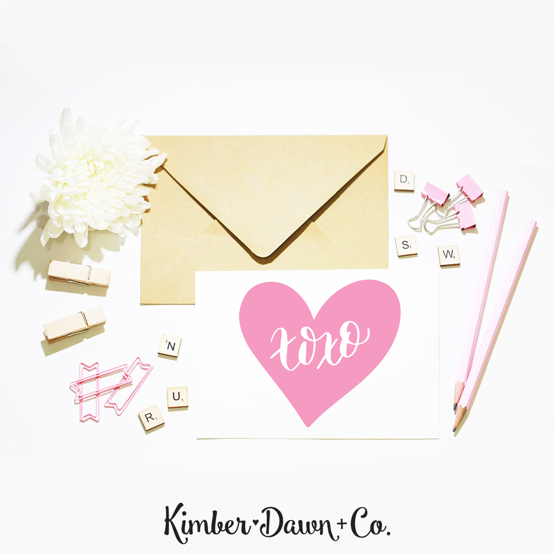 Download Hand Lettered XOXO Conversation Heart FREE SVG Cut File