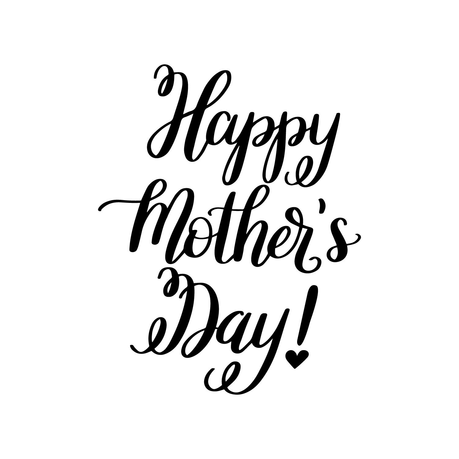 Hand Lettered Happy Mother S Day Free Svg Cut File