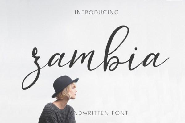 20 Hipster Fonts: Zambia | www.kimberdawnco.com
