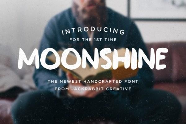 20 Hipster Fonts: Moonshine | www.kimberdawnco.com