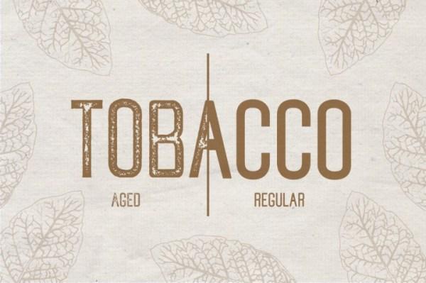 20 Hipster Fonts: Tobacco | www.kimberdawnco.com