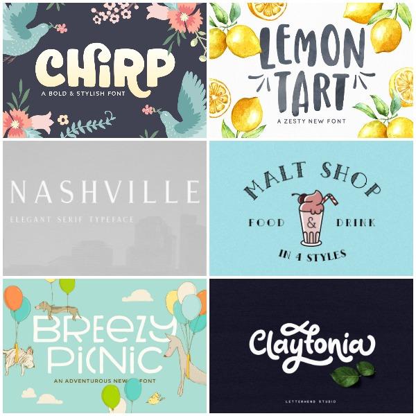 Print Fonts We LOVE!