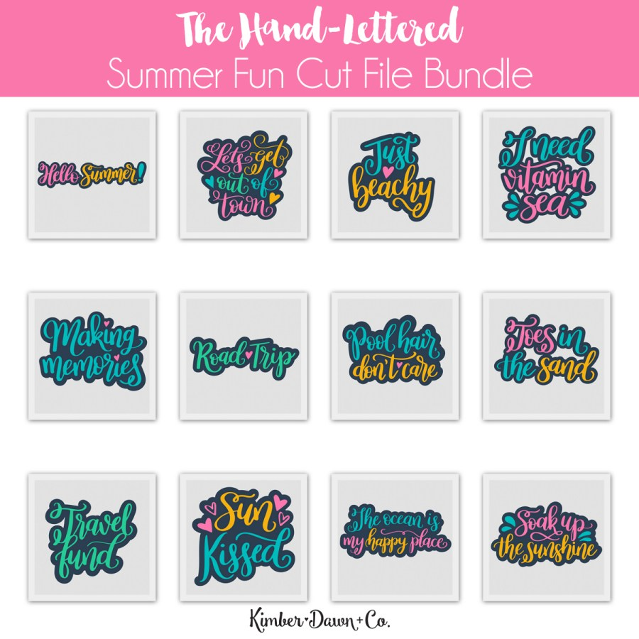 The Summer Fun Hand-Lettered SVG Cut File Bundle!