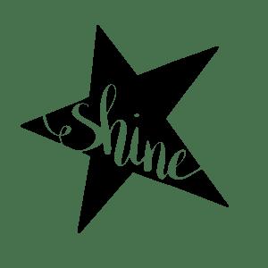 Hand Lettered Shine Free SVG Cut File
