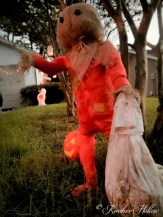 Sam from Trick r Treat greets Kimber Hollow's visitors