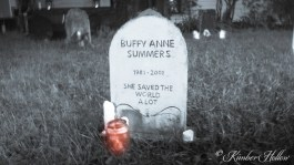 New tombstone at Kimber Hollow 2015 - RIP Buffy Summers