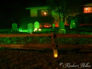 Tombstones in the graveyard at Kimber Hollow - 2012