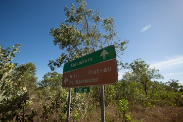 The turn-off to Mitchell Falls