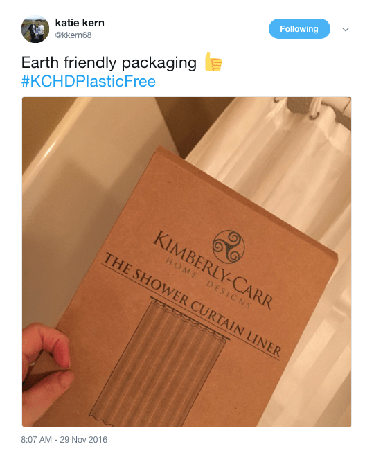 earth friendly packaging tweet