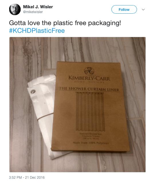 plastic free packaging tweet