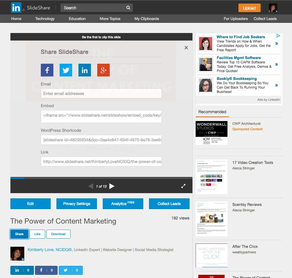 Slideshare for List Building