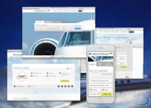 Custom website for JetCharters.com.