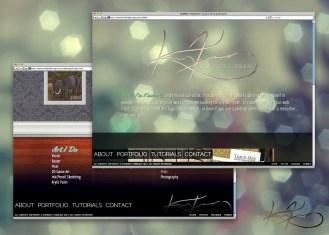 My portfolio site circa 2011-2012.