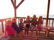 Cousins at the sun house