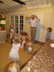 Family Worship time with Grandpa