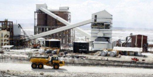 A soda ash mining plant (File photo, The East African)