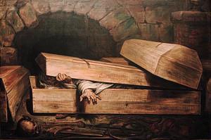 """Premature Burial"" by Anton Wiertz. 1854. (Wikipedia)"