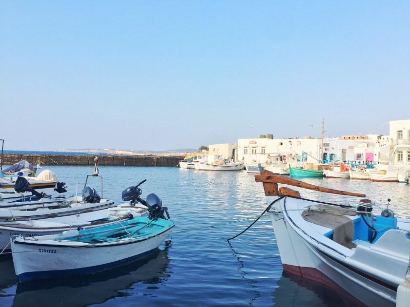 paros naousa square port seaside dinner view