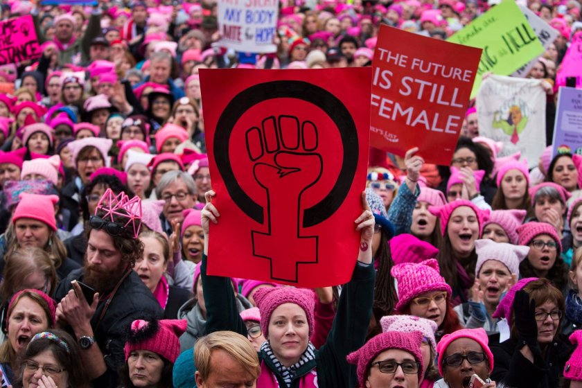 womens march on washington pink hats Credit Ruth Fremson:The New York Times