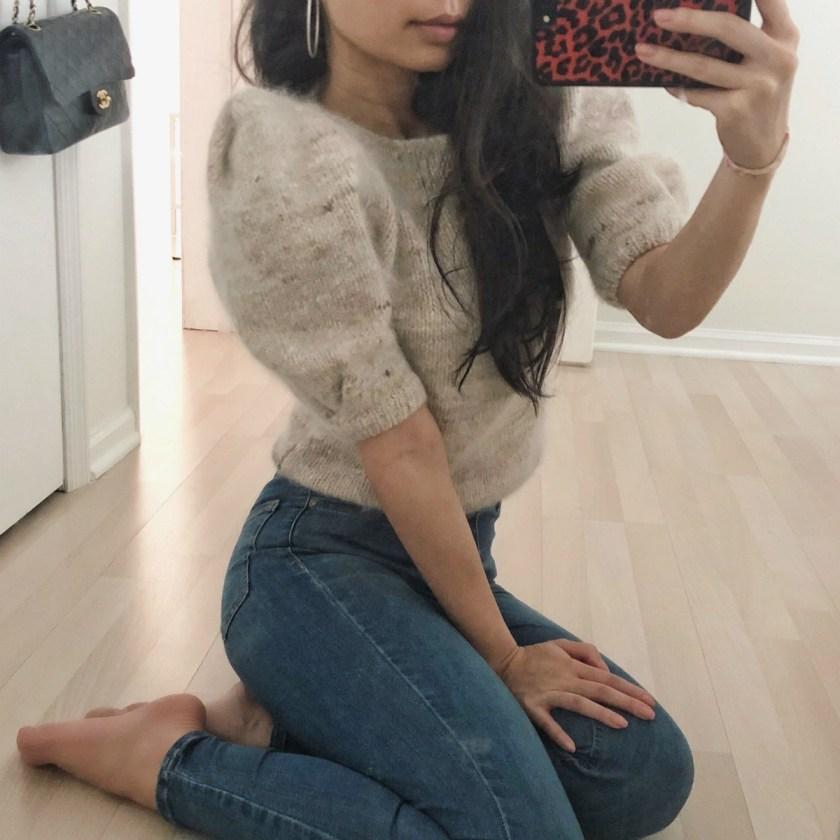 ootd-puff-sleeve-vintage-sweater