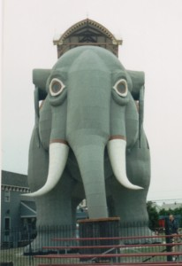front view of an elephant-shaped building
