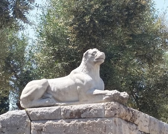 Ancient animal statue