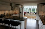 Kitchen knocked through to hallway with dining area