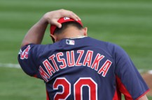 Tuesday's starting pitcher Daisuke Matsuzaka