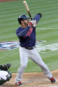 Cleveland Indians 3rd baseman Mike Aviles, Oakland Coliseum, April 2, 2014