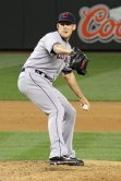 Cleveland Indians reliever NIck Hagadone at Safeco Field. Seattle, WA. (June 27, 2014)