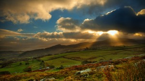 Late sun on New Years Day, Conwy Valley, Wales, UK by erwlas on Flickr (cc)