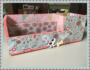 Decoupage Caddy Finished