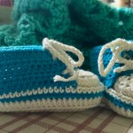 crocheted converse-bootees
