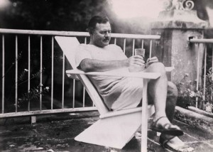 Ernest Hemingway in Cuba. Ida Woodward Barron Collection.