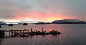 sunset in sitka