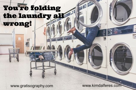 Laundry with text
