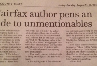 "Fairfax Times Highlights Release of ""Magic Fishing Panties"""