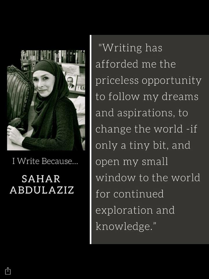 TAA - I write because sahar