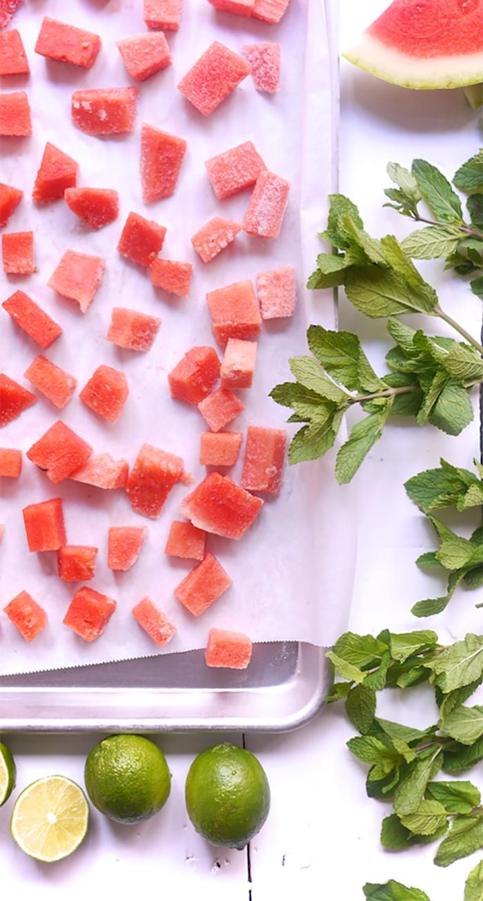 Slushie Recipe - Mint Watermelon Drink - Kim D'Eon